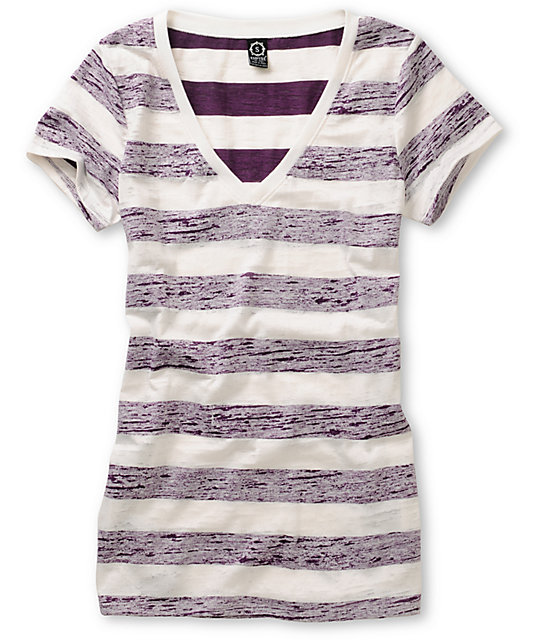 Empyre Tesla Shadow Purple Striped T-Shirt