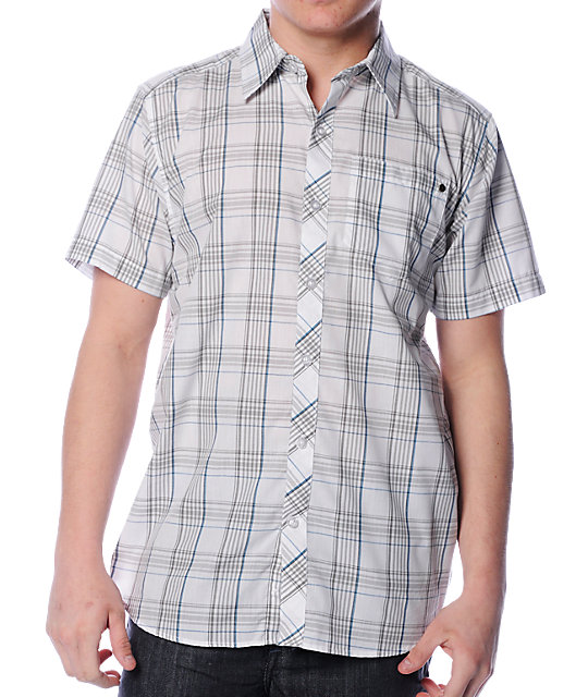 Empyre The Captain White Plaid Woven Shirt