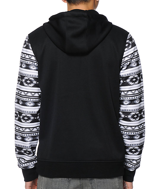 Empyre The Riot Blanket Black & White Tech Fleece Jacket