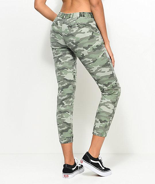 Empyre-Tia-Olive-Camo-Woven-Jogger-Pants