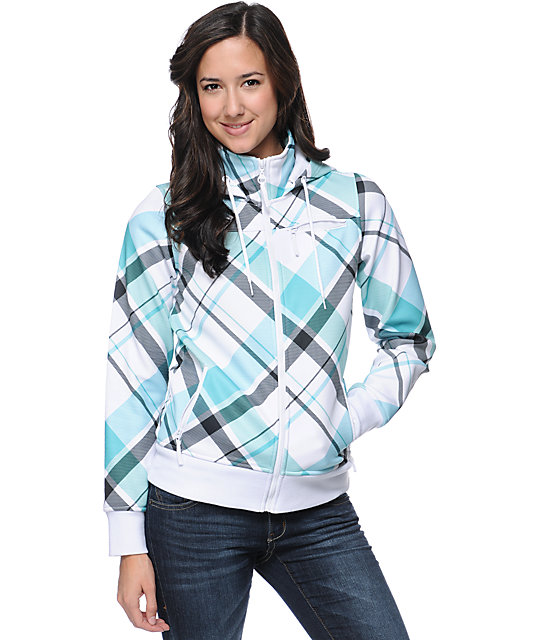 Empyre Timber Teal Plaid Tech Fleece Jacket