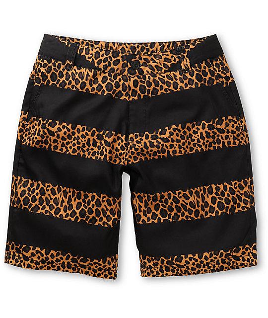 Empyre Tomcat Cheetah Print Black Hybrid Shorts