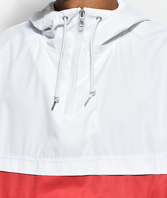 Empyre Transparent White & Red Anorak Jacket