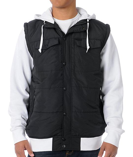 Empyre Trendon Black & White Vest Hoodie