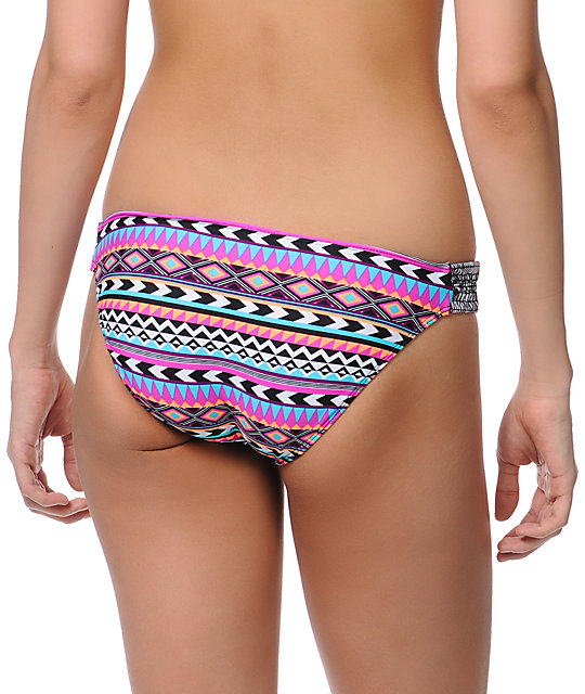 Empyre Tribal Lines Tab Side Bikini Bottom