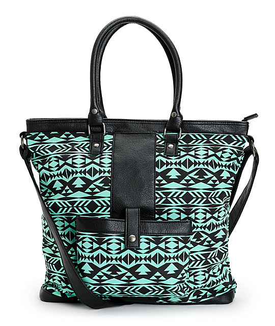 Empyre Tribal Mint Tote Bag