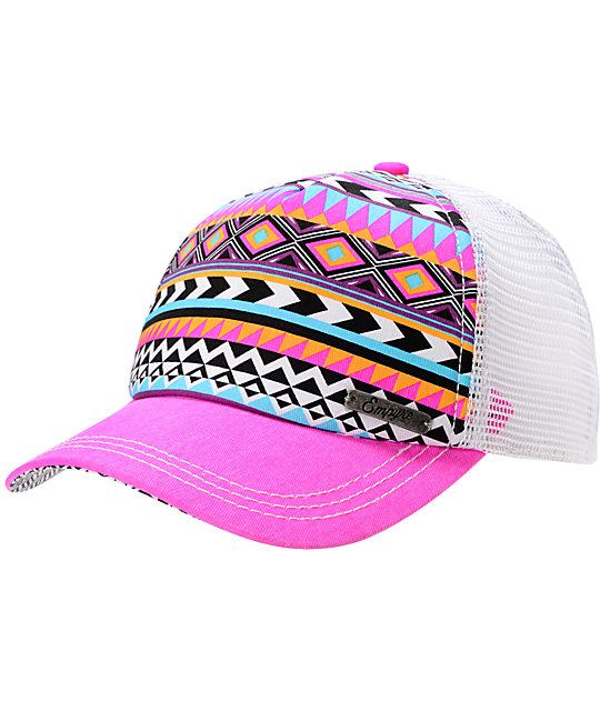 Empyre Tribal Pink Trucker Snap Back Hat