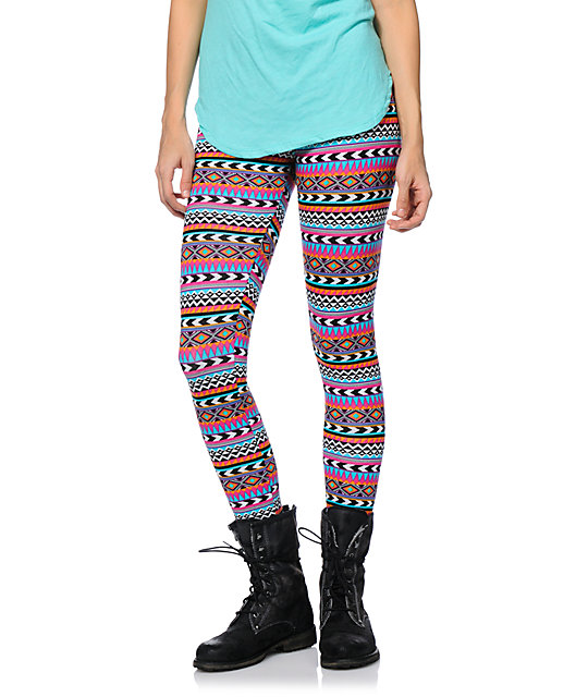 Empyre Tribal Print Stripe Leggings