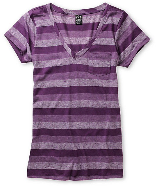 Empyre Trivial Shadow Purple Striped T-Shirt
