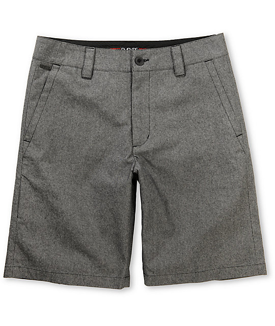 Empyre Tryst Black Chambray Chino Shorts