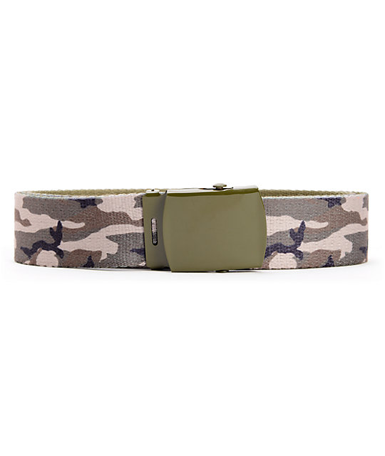 Empyre Two Times Green Camo Web Belt