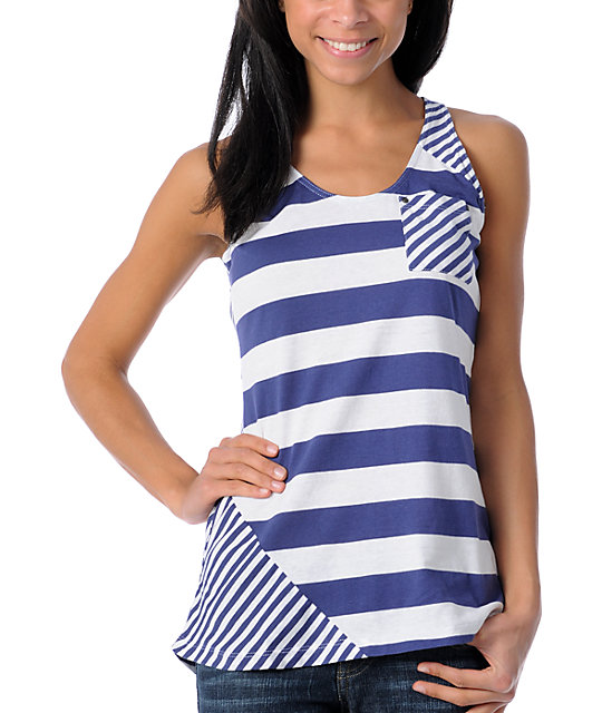 Empyre Umbel Blue Stripe Tank Top