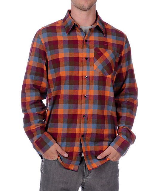 Empyre Urban Cowboy Red Long Sleeve Woven Shirt