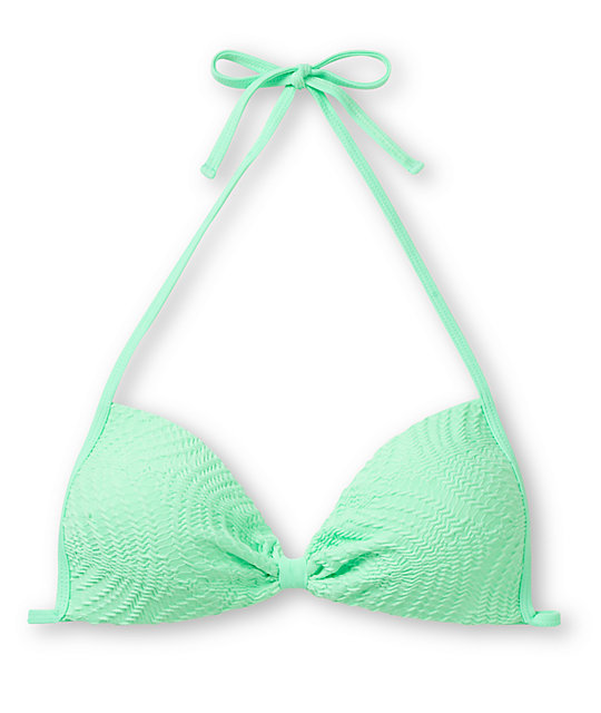 Empyre Variant Mint Green Crochet Molded Cup Bikini Top