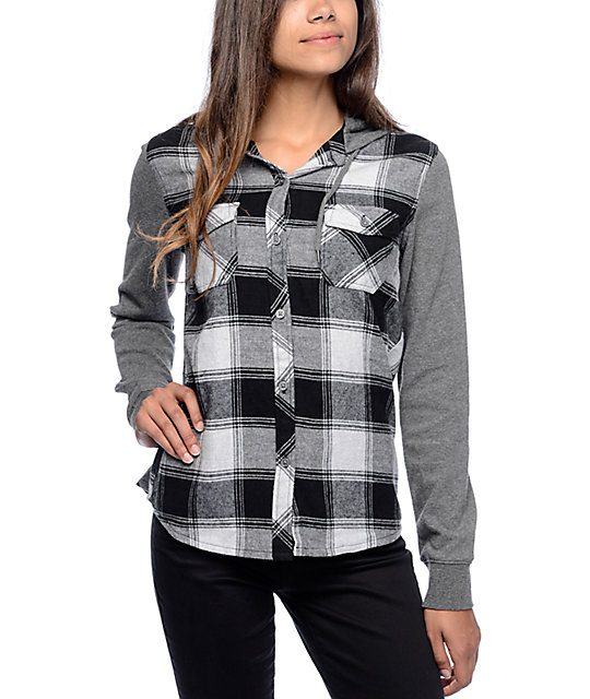 A modern twist on 90's grunge, this heavy washed plaid shirt from Adam Levine is super cool and extra comfy. It features a boyfriend cut, French Te.