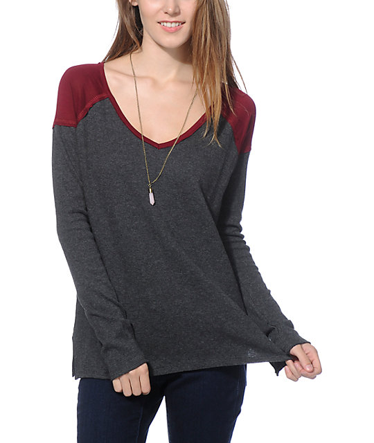 Empyre Vergara Blackberry Shoulder Block Thermal Top