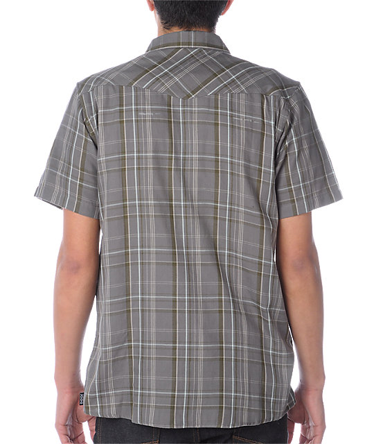 Empyre Walker Plaid Grey Woven Shirt