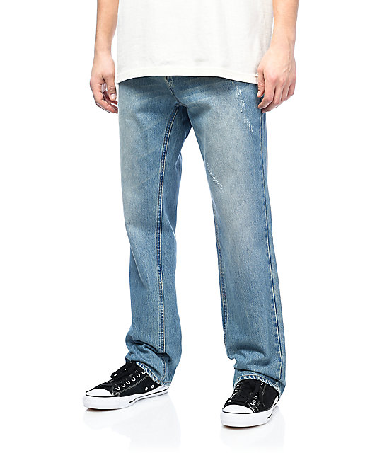 Empyre Warehouse Medium Aged Relaxed Denim Jeans