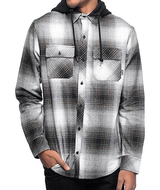 Empyre Westcoast Black Shadow Hooded Flannel