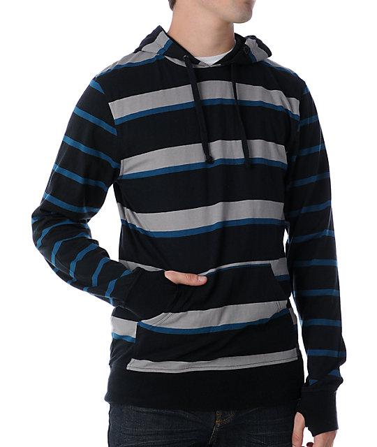 Empyre Wheelie Black & Blue Knit Hoodie