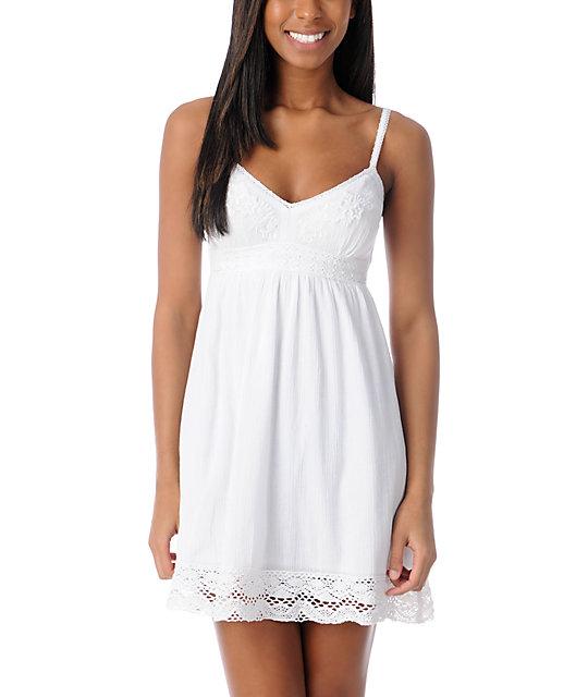 Empyre White Cordelia Crochet Dress