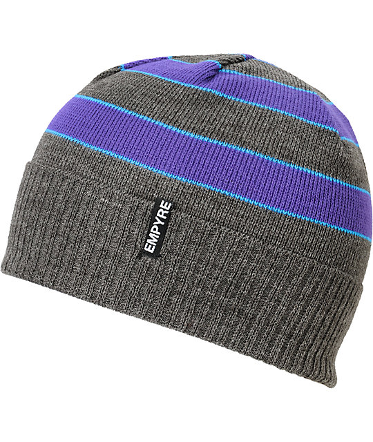 Empyre Wilmer Grey, Purple & Blue Beanie