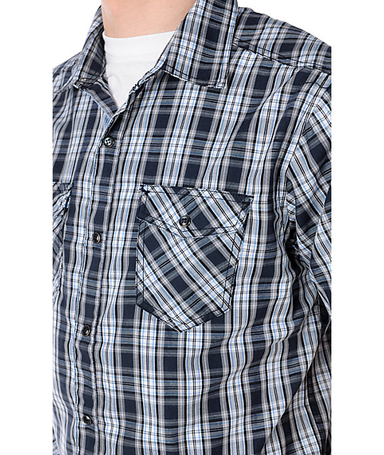 Empyre Wind Cave Navy Blue Button Up Shirt
