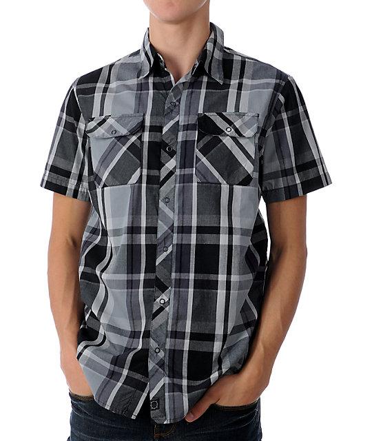 Empyre Windsock Black & Grey Woven Shirt