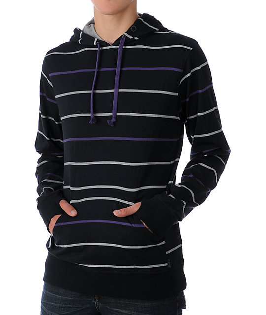 Empyre Winterland Black & Purple Knit Hoodie