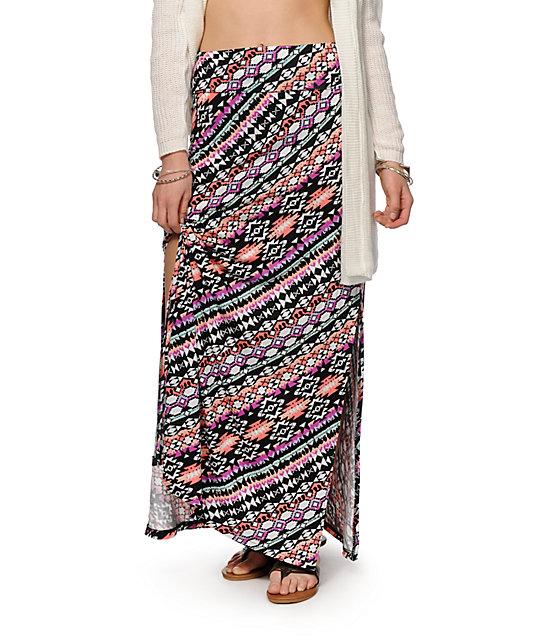 Empyre Yasmin Multi Tribal Maxi Skirt