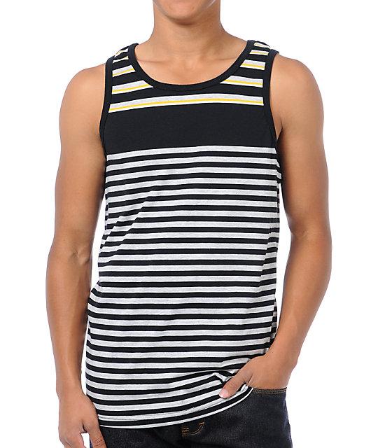 Empyre Yellow Jacket Black Striped Tank Top