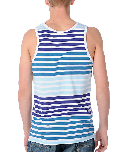 Empyre Yeti Light Blue Stripe Tank Top