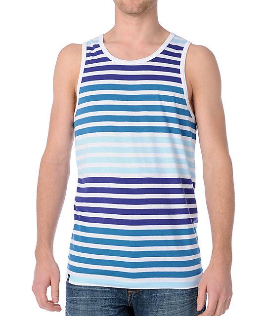 Empyre Yeti Light Blue Stripe Tank Top