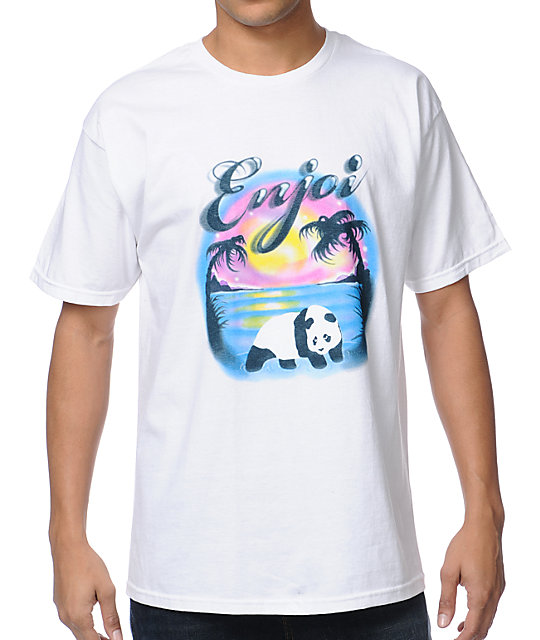 Enjoi Airbrushed White T-Shirt