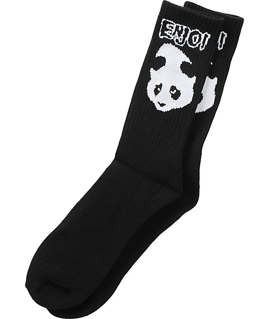 Enjoi American Socko Black Crew Socks