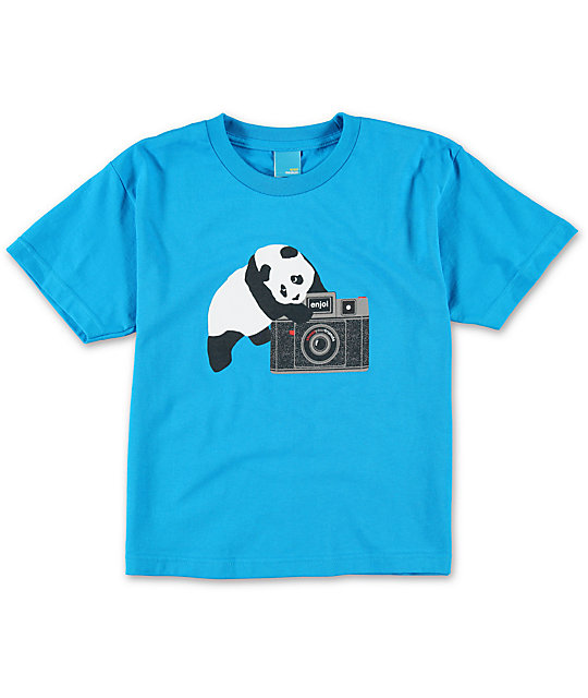 Enjoi Boys Camera Turquoise T-Shirt