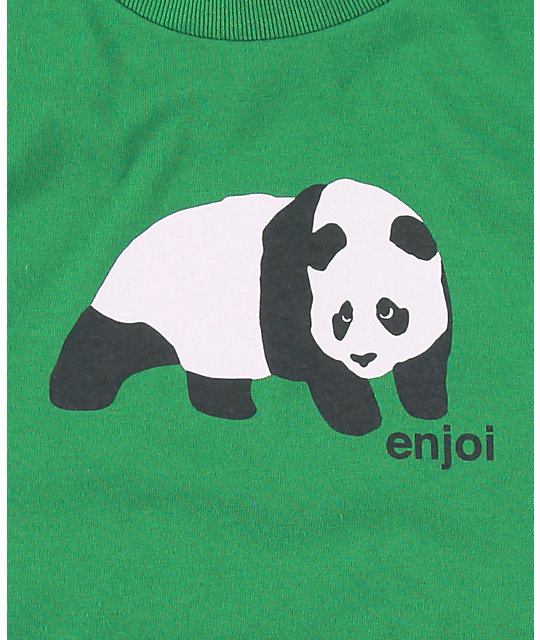 Enjoi Boys Original Panda Green T-Shirt
