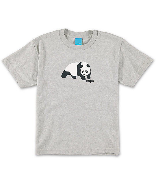 Enjoi Boys Original Panda Grey T-Shirt