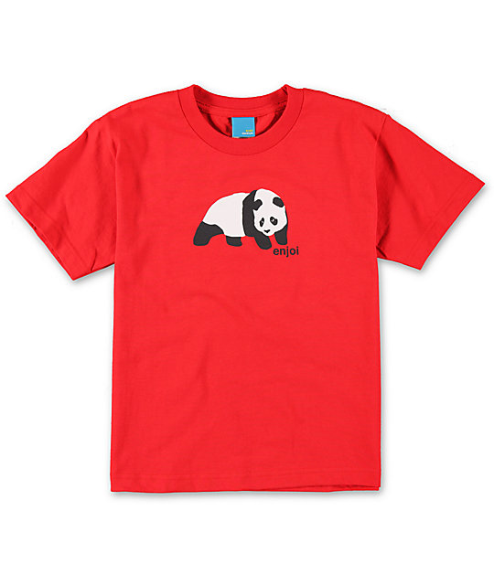 Enjoi Boys Original Panda Red T-Shirt