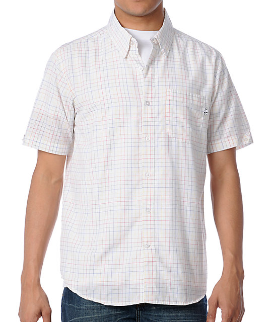 Enjoi Butts Up White Woven Shirt