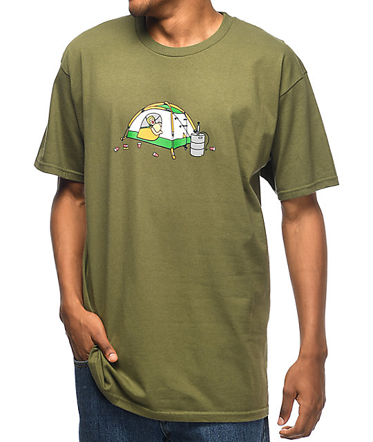 Enjoi Camping Olive Green T-Shirt