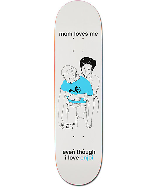 "Enjoi Caswell Berry Mom 8.0""  Steroids Skateboard Deck"