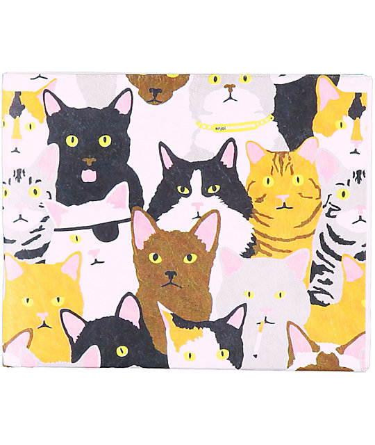 Enjoi Cat Collage Bi-fold Wallet
