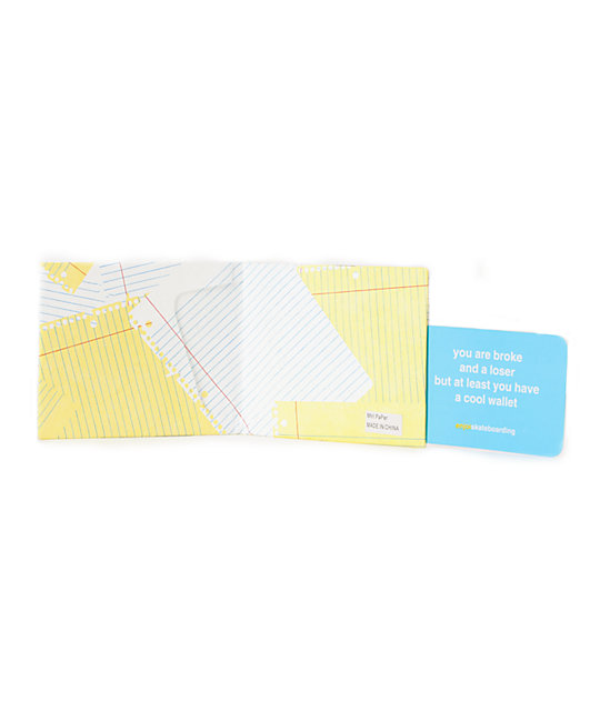 Enjoi Cheat Sheet Bifold Wallet