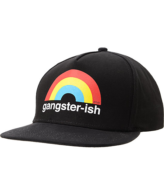 Enjoi Gangsterish Black Snapback Hat
