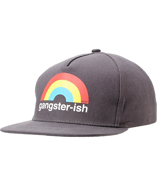 Enjoi Gangsterish Charcoal Snapback Hat