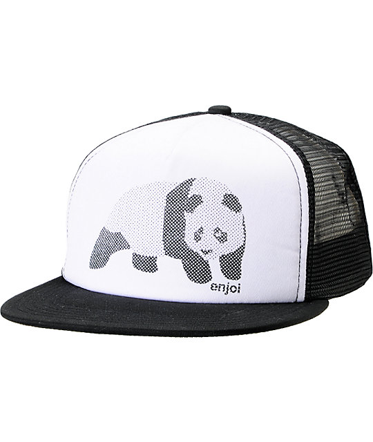 Enjoi Halftone Black Trucker Hat