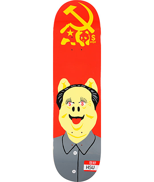 "Enjoi Hsu Communist Pig 8.25""  EOS Skateboard Deck"