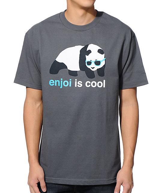 Enjoi Is Cool Charcoal T-Shirt