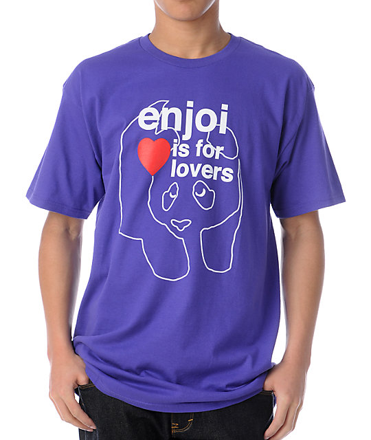 Enjoi Is For Lovers Purple T-Shirt